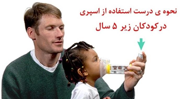 نحوه استفاده از اسپری در کودکان زیر 5 سال
